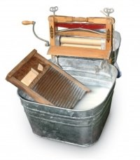 old fashioned washboard